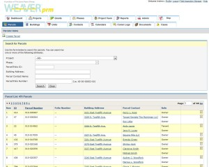 WeaverPRM Screenshot of Projects